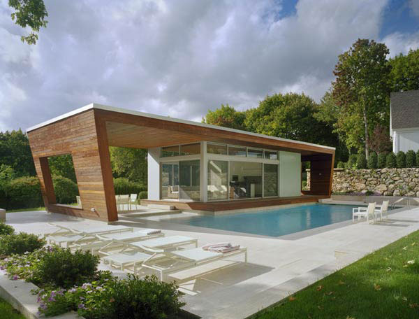 Beautiful Pool House 5 modern house