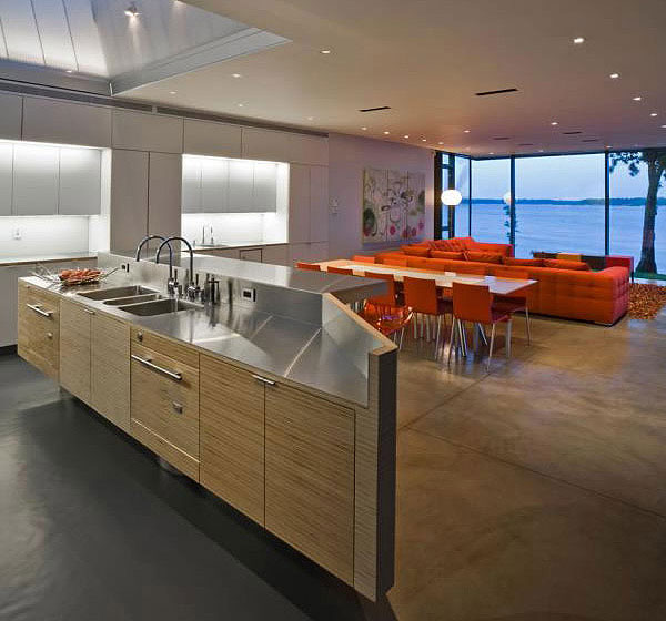 Modern Cottage on West Lake Okoboji Shoreline Modern Kitchen 8