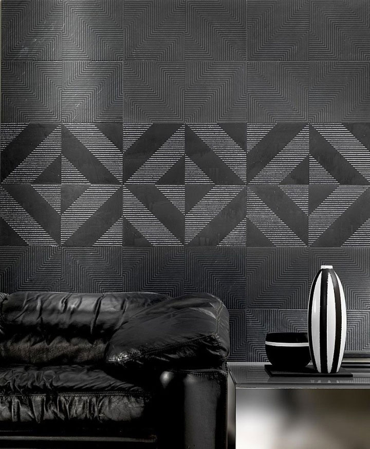 low relief marble tiles black sofa tile