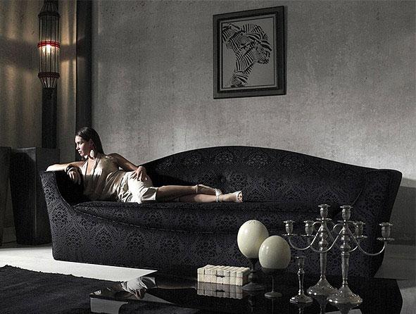 Luxury Ideas and Decor by Cattelan Italia black sofa