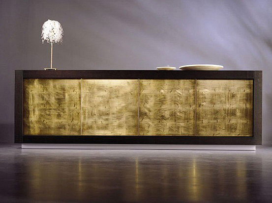 Luxury Sideboards dark wood gold