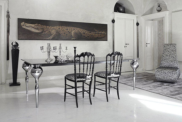 Luxury Ideas and Decor by Cattelan Italia living room crocodile