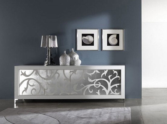 Luxury Sideboards silver floral elements