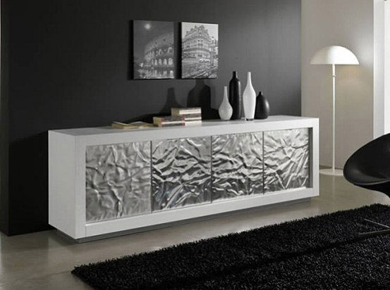 Luxury Sideboards white silver interior