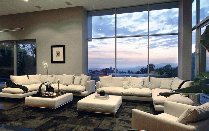 The Hollywood Dream House living room white sofa