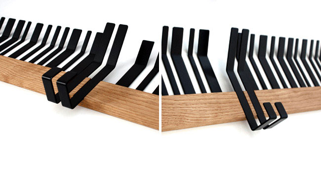 Design Inspired by Bar Codes bar deco coathanger