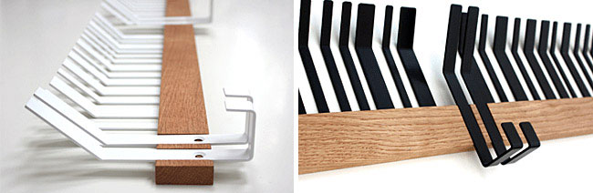 Design Inspired by Bar Codes coat hanger white