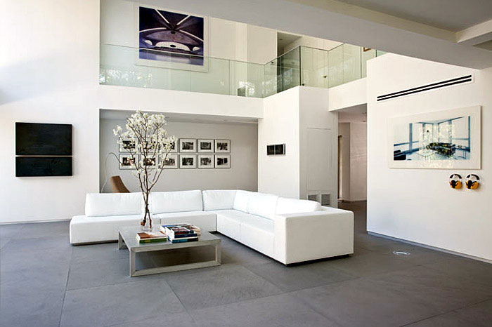 Updated Modern Interior cool white residence