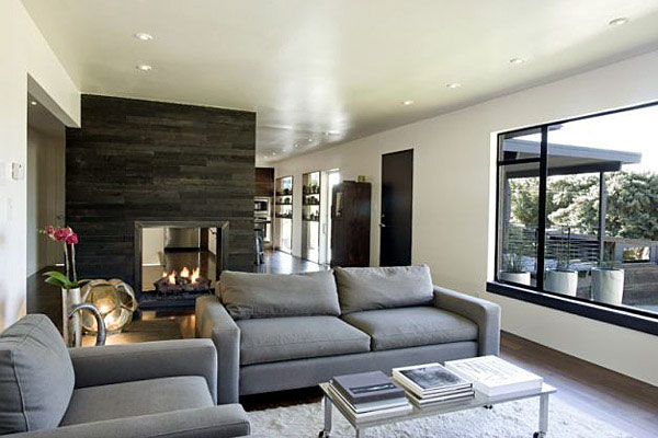 Contemporary Remodel of House dark interior