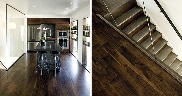 Contemporary Remodel of House dark wood staircase