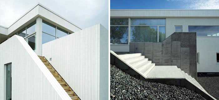 Modern House by Todd Saunders exterior stairs