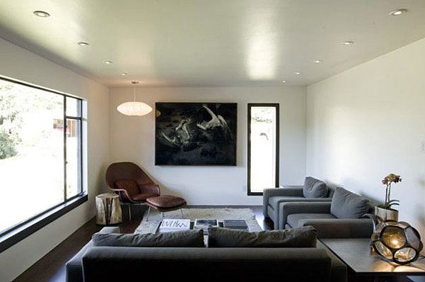 Contemporary Remodel of House gray sofas