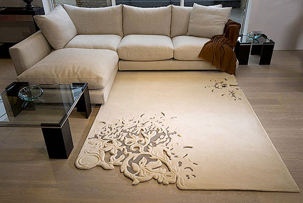 Three Dimensional Interior Flooring hand made 3d carpet
