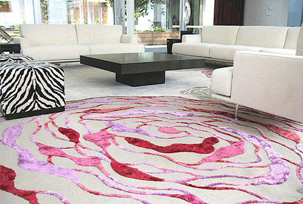 Three Dimensional Interior Flooring hand made rugs