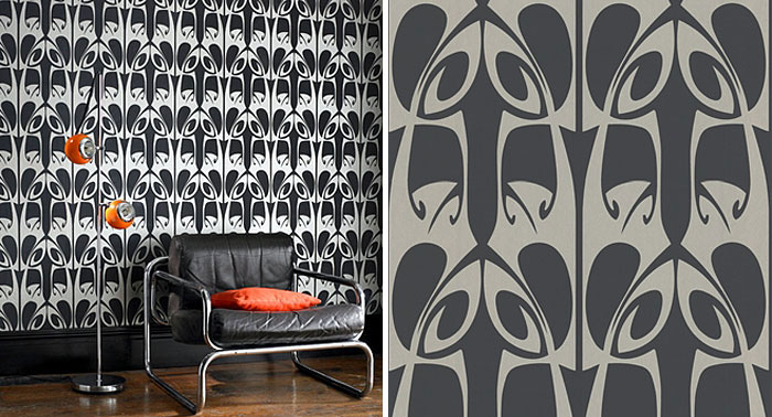 Wallpaper Design by Barbara Hulanicki hula black wallpaper1