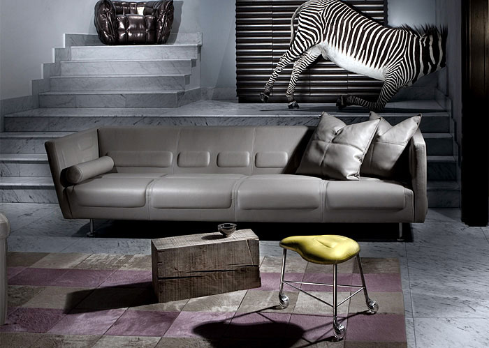 Sport Inspired Furniture leather sofa