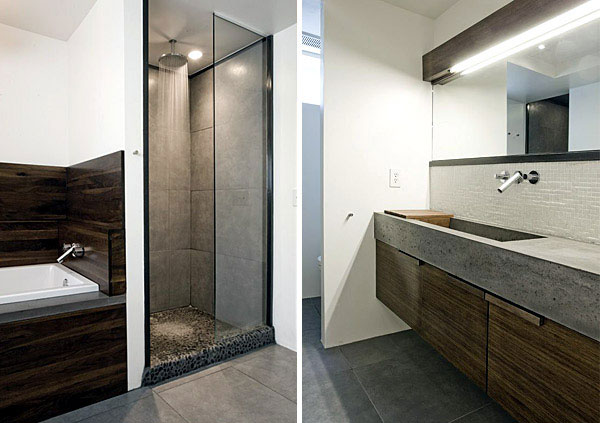 Contemporary Remodel of House minimalist bathroom