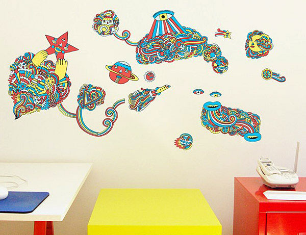 Wall Decals for Urban Interior original artwork