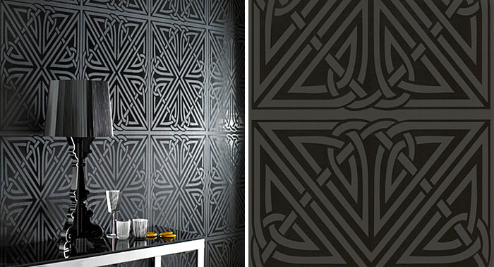 Wallpaper Design by Barbara Hulanicki viva black wallpaper1