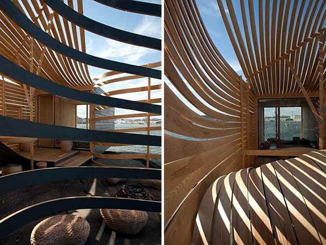 Wooden Design Hotel walls ceiling