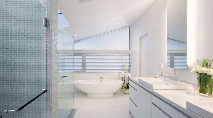 Light Interior Design in 1426 Greenworth Place white bathroom decoration