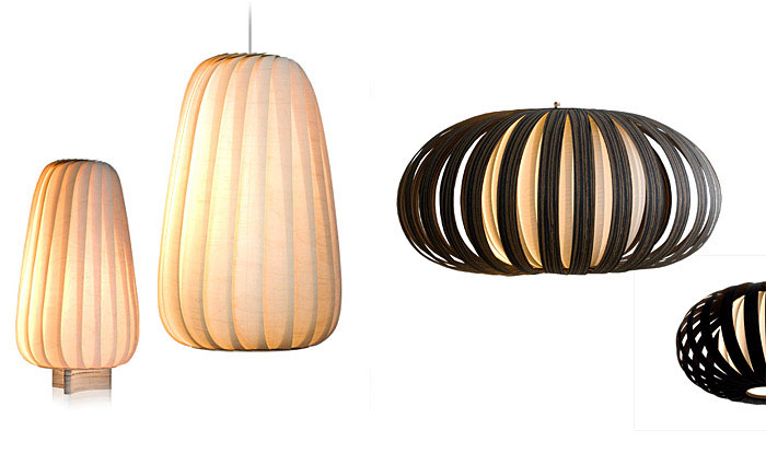 Tom Rossau with New Veneer Lamps light collection