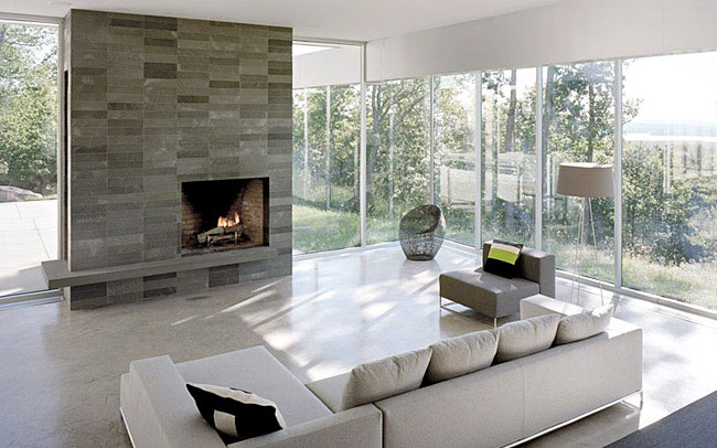 wohnzimmer design modern:Living Room Designs with Fireplaces