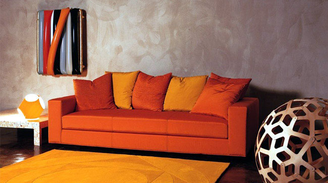 Ergonomic sofas by Mussi  orange sofa