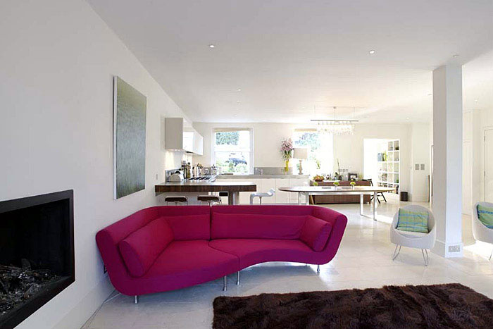 Beautiful Home Transformation pink sofa 2