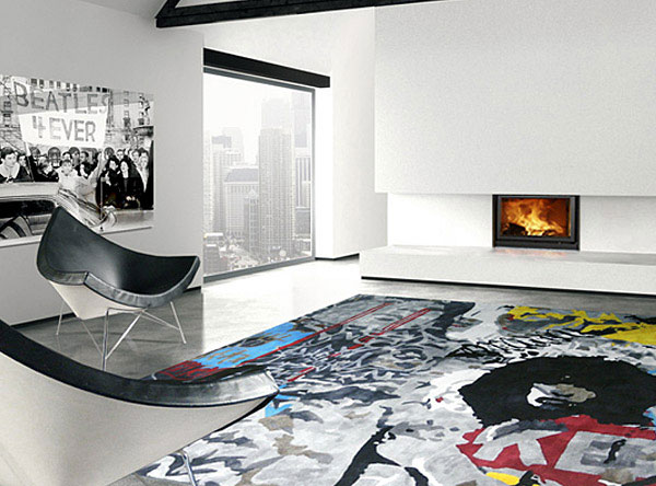 Rugs, art and design rug aerosol