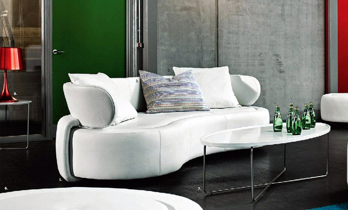 BoConcept collection  white sofa