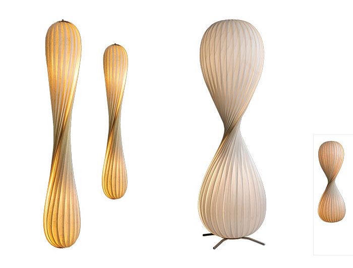 Tom Rossau with New Veneer Lamps wooden illuminators