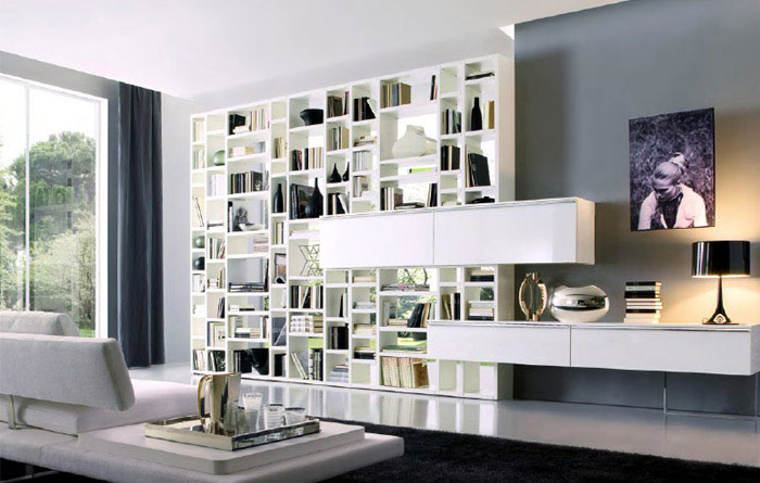 Crossing Collection of Bookcase crossing wall units