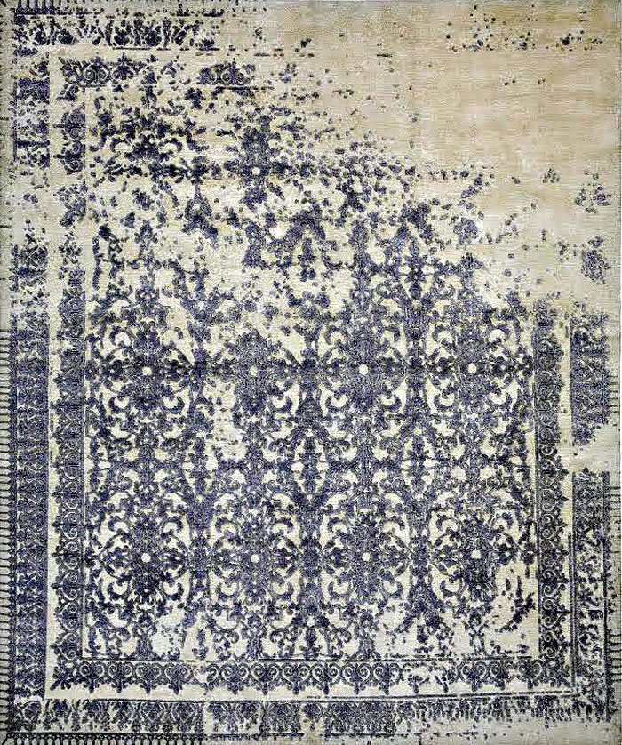 Collection of Carpets Based on Classic Patterns erosion carpet
