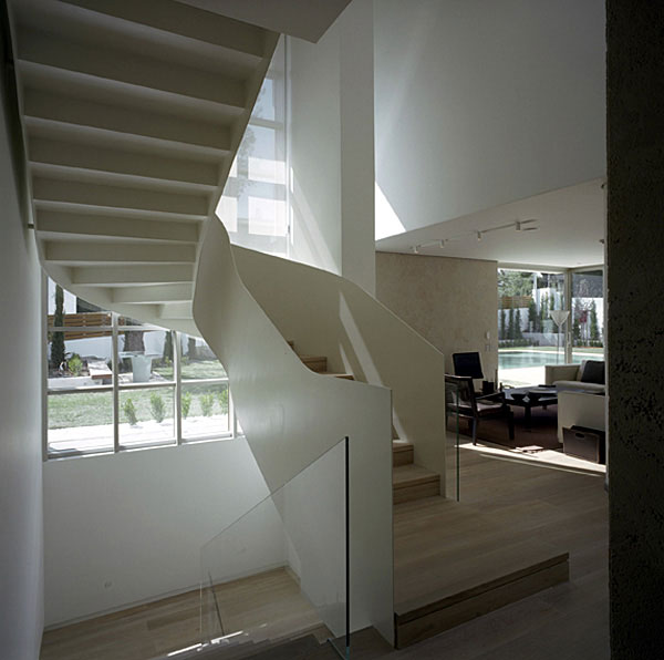 Wide Open Villa  modern staircase