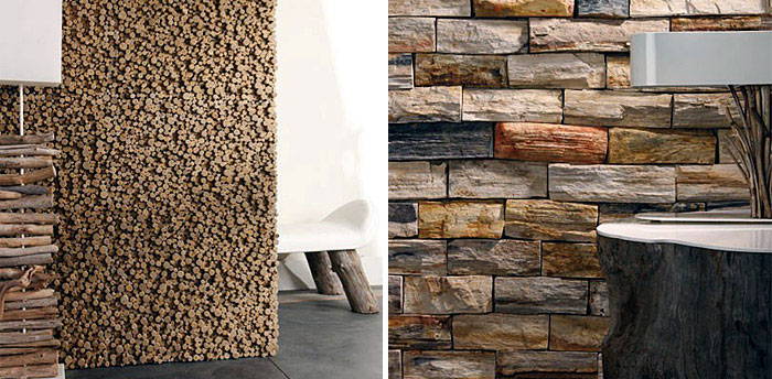 Collection of Wood Pieces wall panels