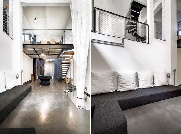 Stefano Cerruti's apartment by Carlo Carossio beton loft interior