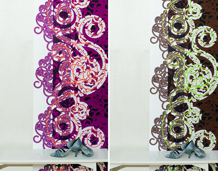 Wallpaper With High Fashion Attitude design mixes baroque ornamentation