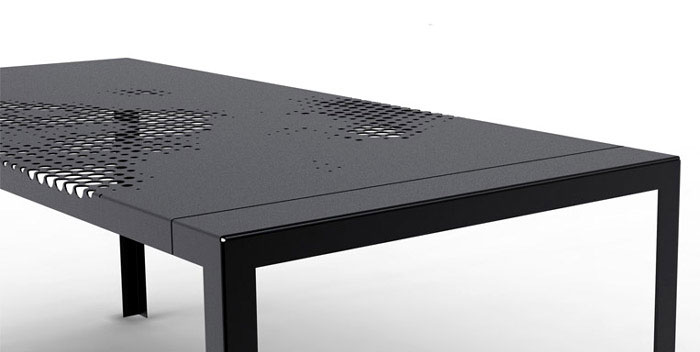 Kilo design hole plate table