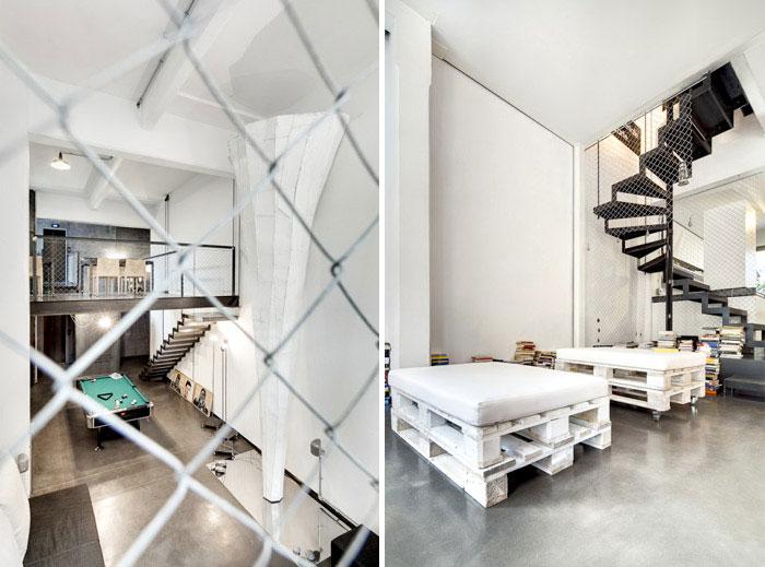 Stefano Cerruti's apartment by Carlo Carossio whit loft interior