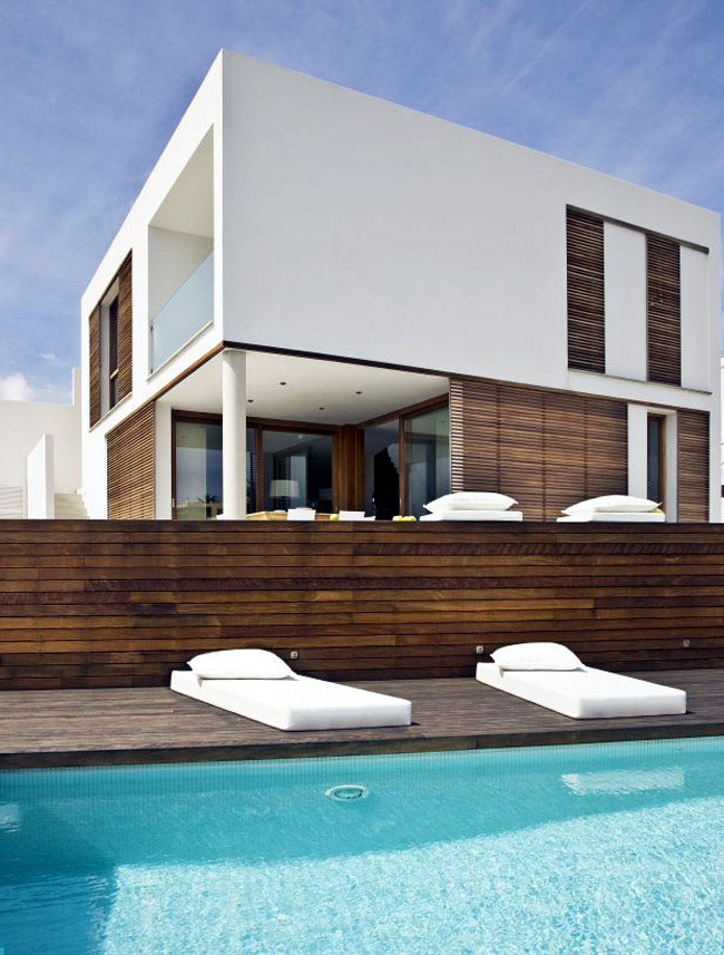 The Square House pool area