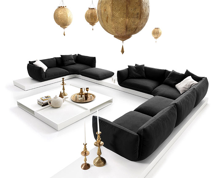 jalis sofa at the upcoming 2010 imm cologne interiorzine. Black Bedroom Furniture Sets. Home Design Ideas