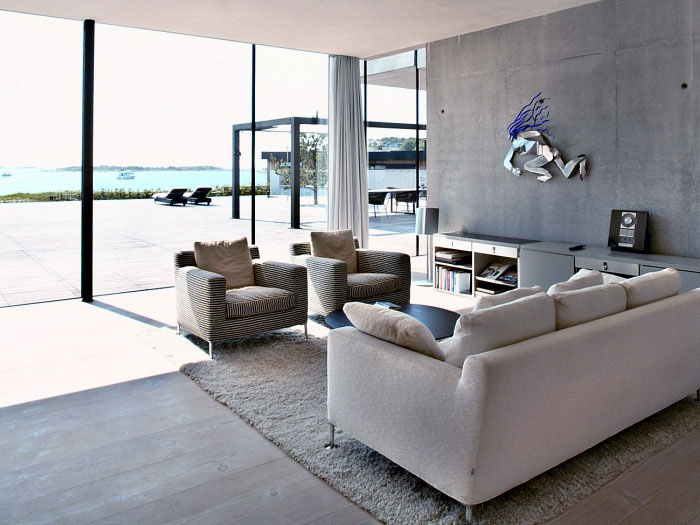 Modern House in Metal Frame artistic living room