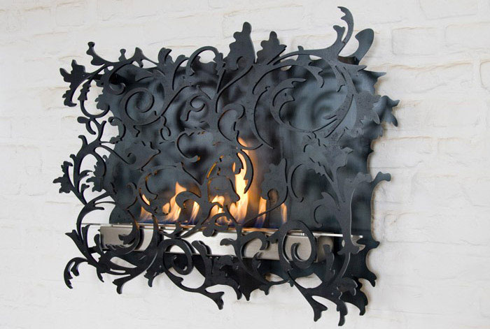 Wall Mount Fireplaces Mazzetto by Redwitz contemporary fireplaces