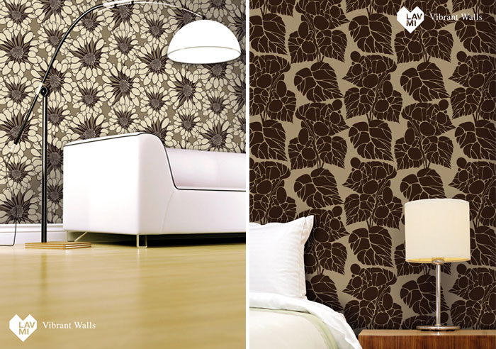 Lavmi's three new designer wallpaper collections  herb new wallpaper collection
