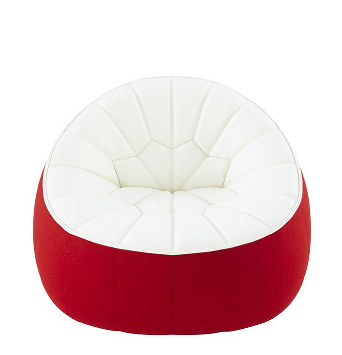 Ottoman with a spirit of the Canadian flag ligne roset ottoman