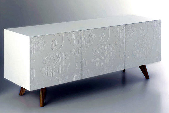 Three Dimensional Lace textile side unit
