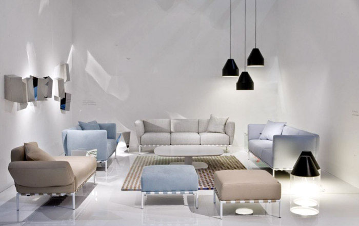 Ligne Roset at the Maison &amp; Objet white spase ligne roset