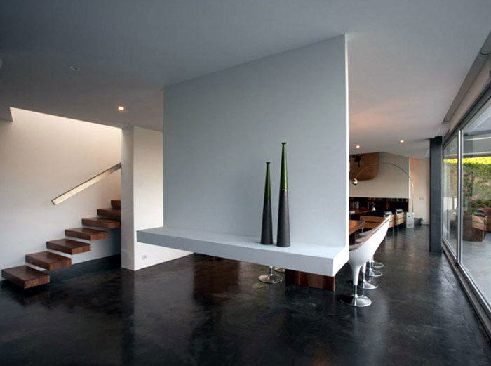 Modern House in Santander wood on flooring
