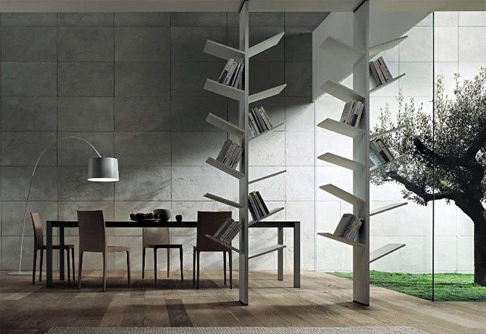 Modern Bookshelves Inspired by the Nature  furniture library